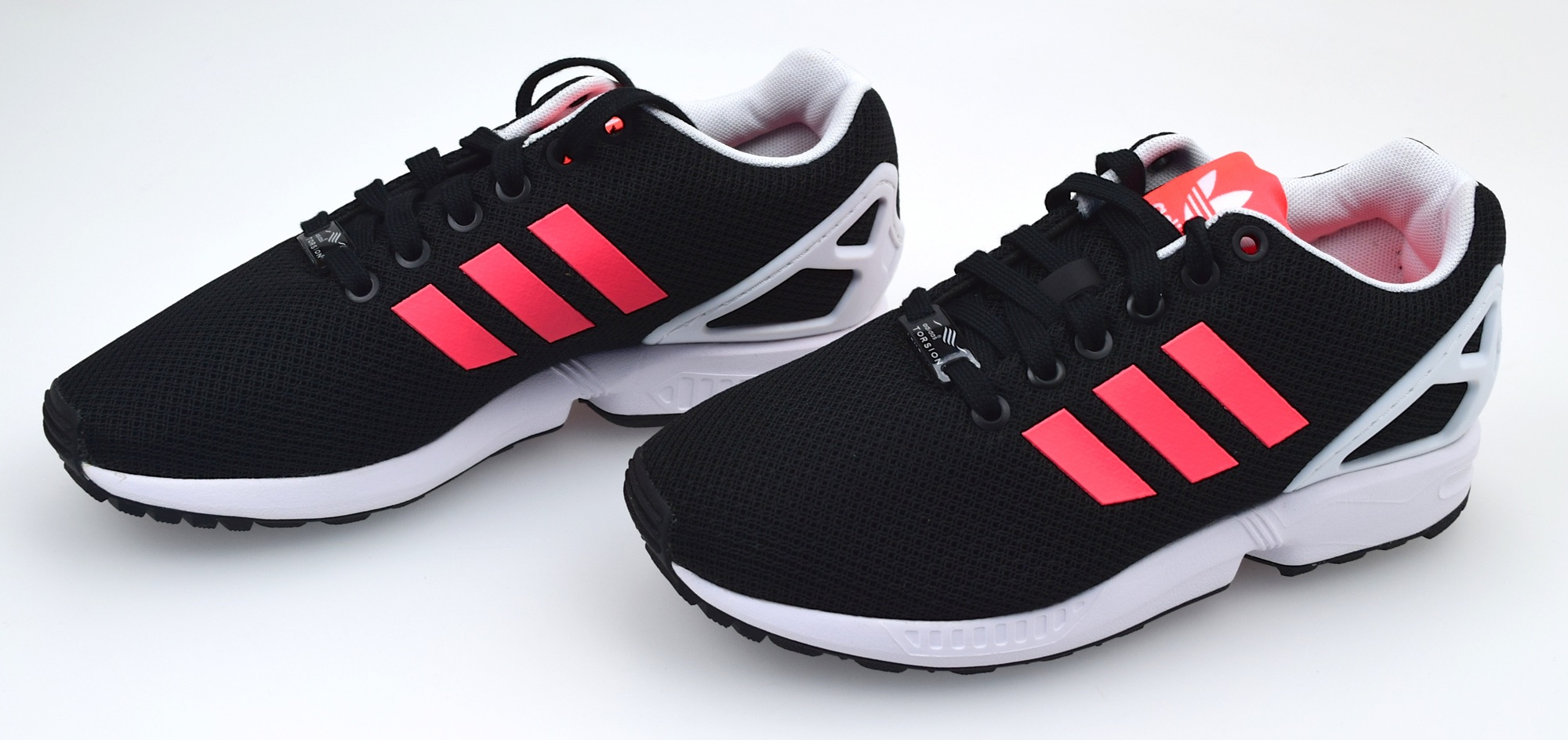reputable site f1394 bda98 Image is loading Adidas-Shoe-Sneaker-Women-Nylon-Black-Fuchsia-and-