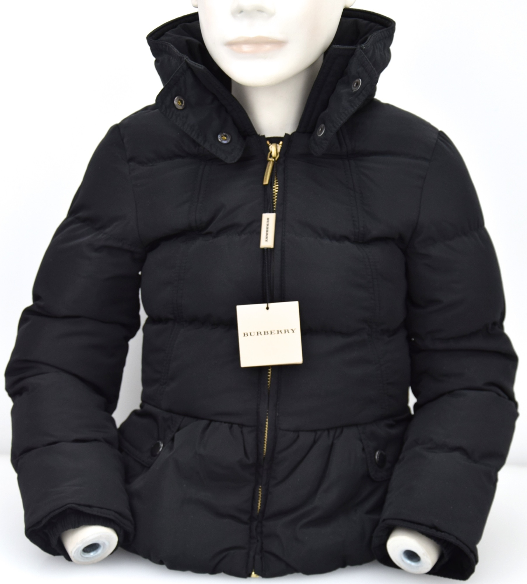 BURBERRY GIRL PADDED JACKET BLACK NYLON CODE B16419 Y21 | eBay