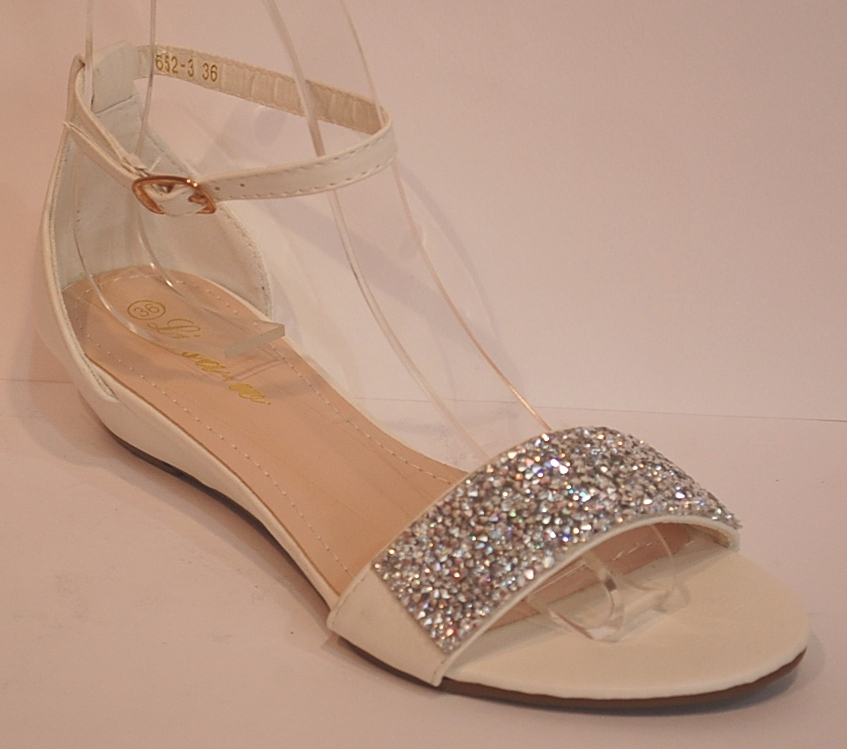 sandals womens ankle straps white gold golden shoes