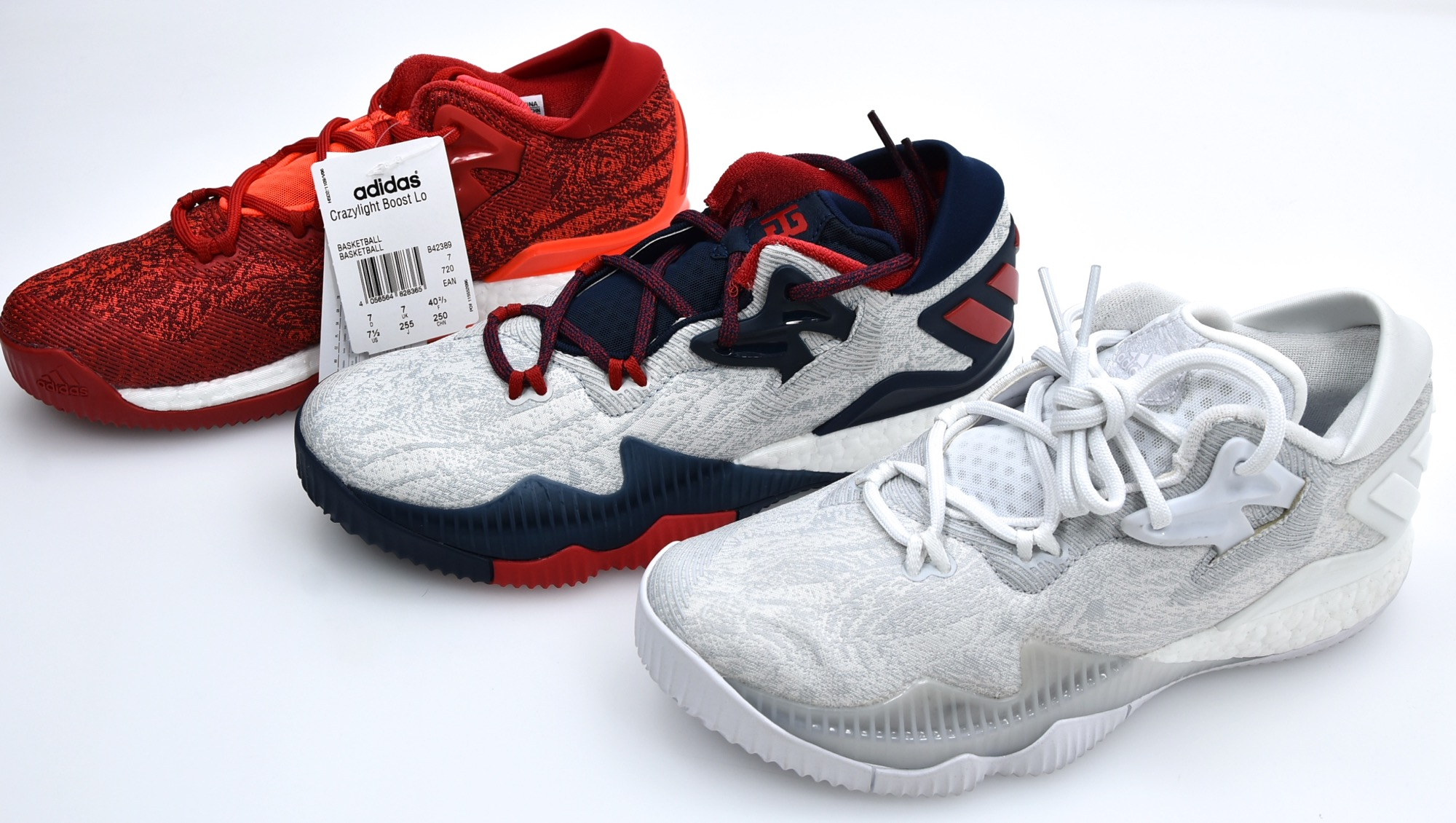 separation shoes 20027 4044d ADIDAS MAN BASKETBALL SPORTS SNEAKER SHOES CODE CRAZYLIGHT BOOST LOW 2016