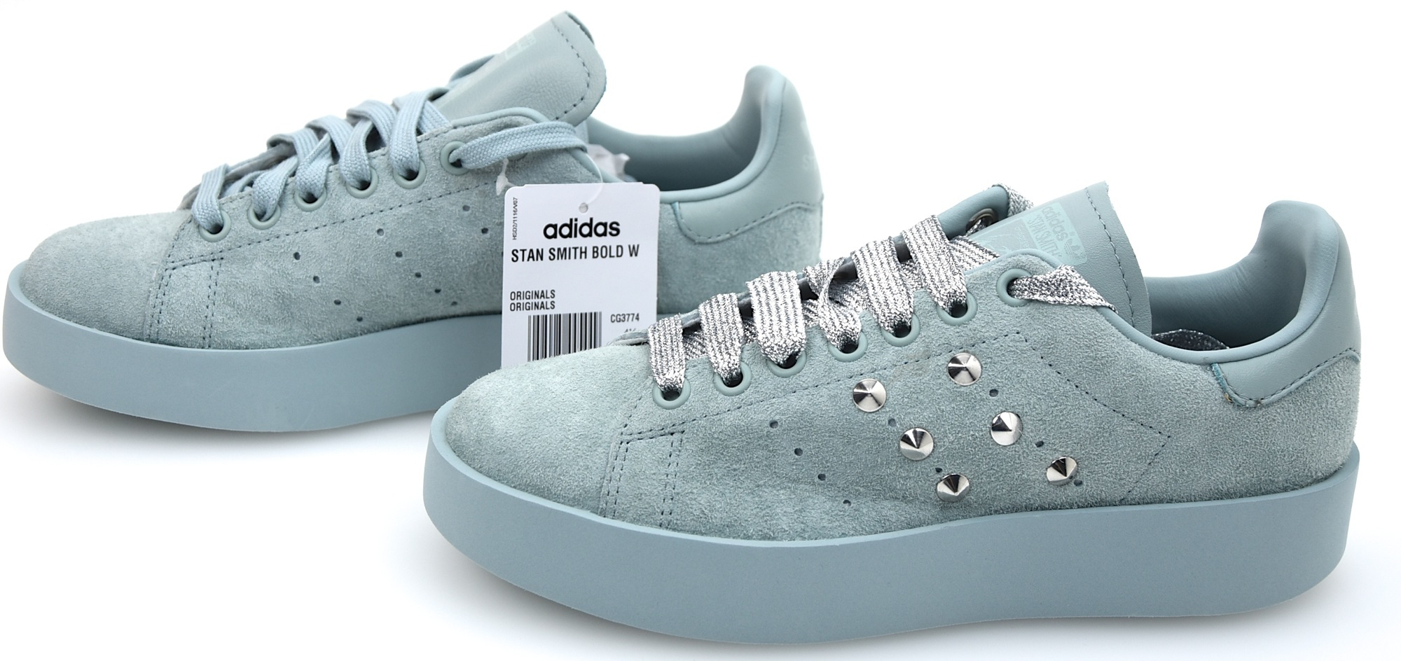 online store 06d63 0aea5 Details about ADIDAS WOMAN SNEAKER SHOES CASUAL FREE TIME WITH WEDGE CG3774  S SMITH BOLD W