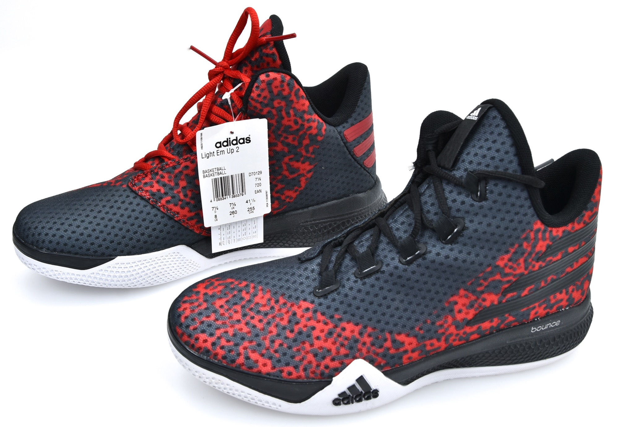 d8ac3fc14fc0 ADIDAS MAN BASKETBALL SPORTS SNEAKER SHOES SYNTHETIC CODE D70129 LIGHT EM  UP 2