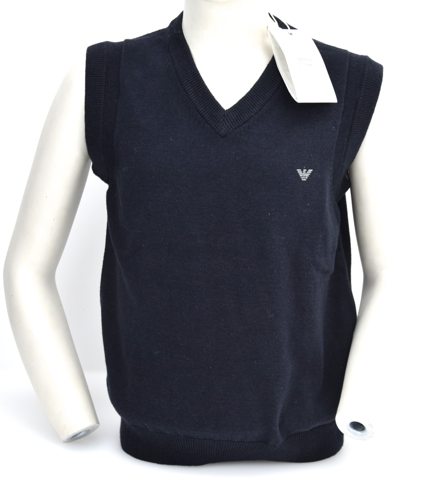 ff059e6ed77b ARMANI JUNIOR BOY GILET VEST PULLOVER JUMPER SWEATER V-NECK COTTON ...