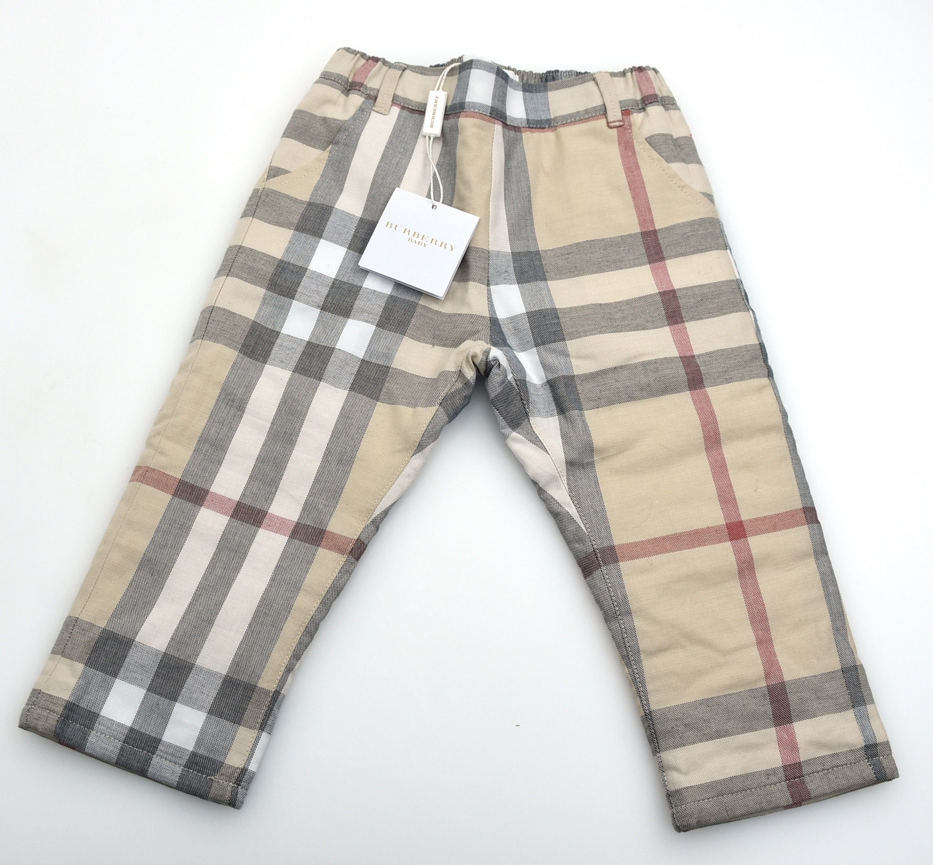 BURBERRY BABY BOY PADDED PANTS CHECK COLOR CODE B9449A