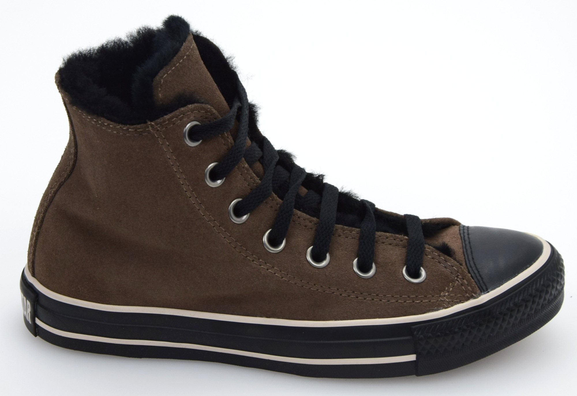 converse all star woman sneaker shoes dark brown and black suede code 128120c ebay. Black Bedroom Furniture Sets. Home Design Ideas