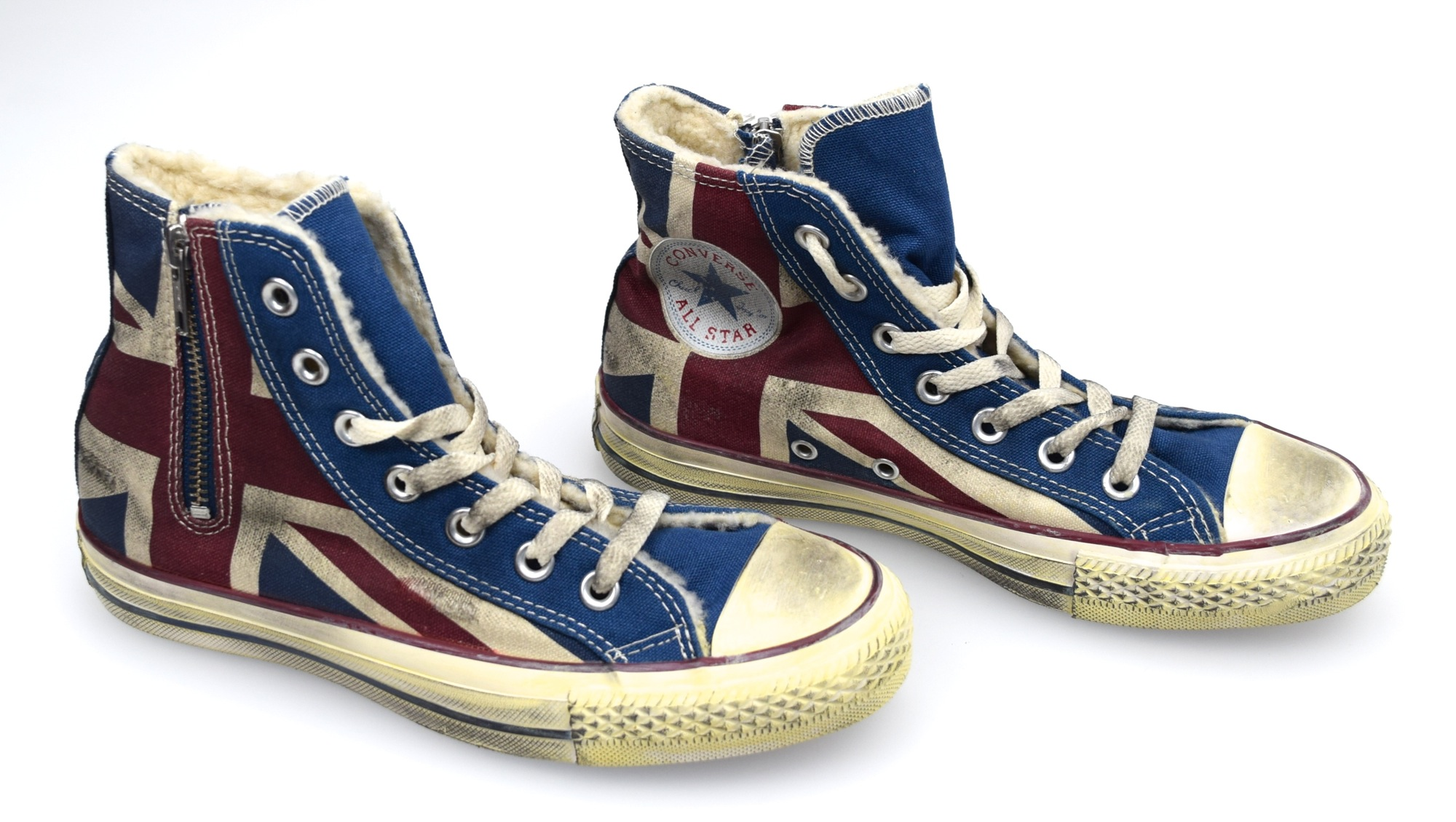 7748f28d9345df Details about CONVERSE ALL STAR WOMAN SNEAKER SHOES VINTAGE ENGLISH FLAG  CANVAS CODE 1C503