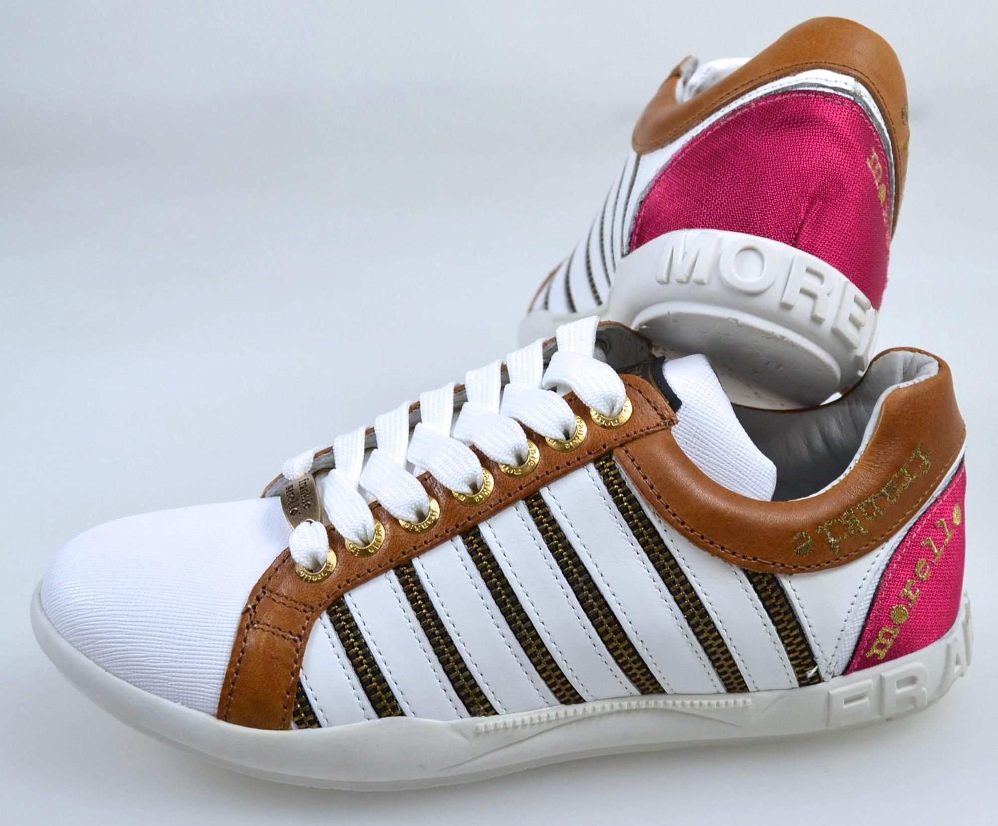 eba67ac30eff6 FRANKIE MORELLO WOMAN SNEAKER SHOES CASUAL FREE TIME LEATHER CODE 8503