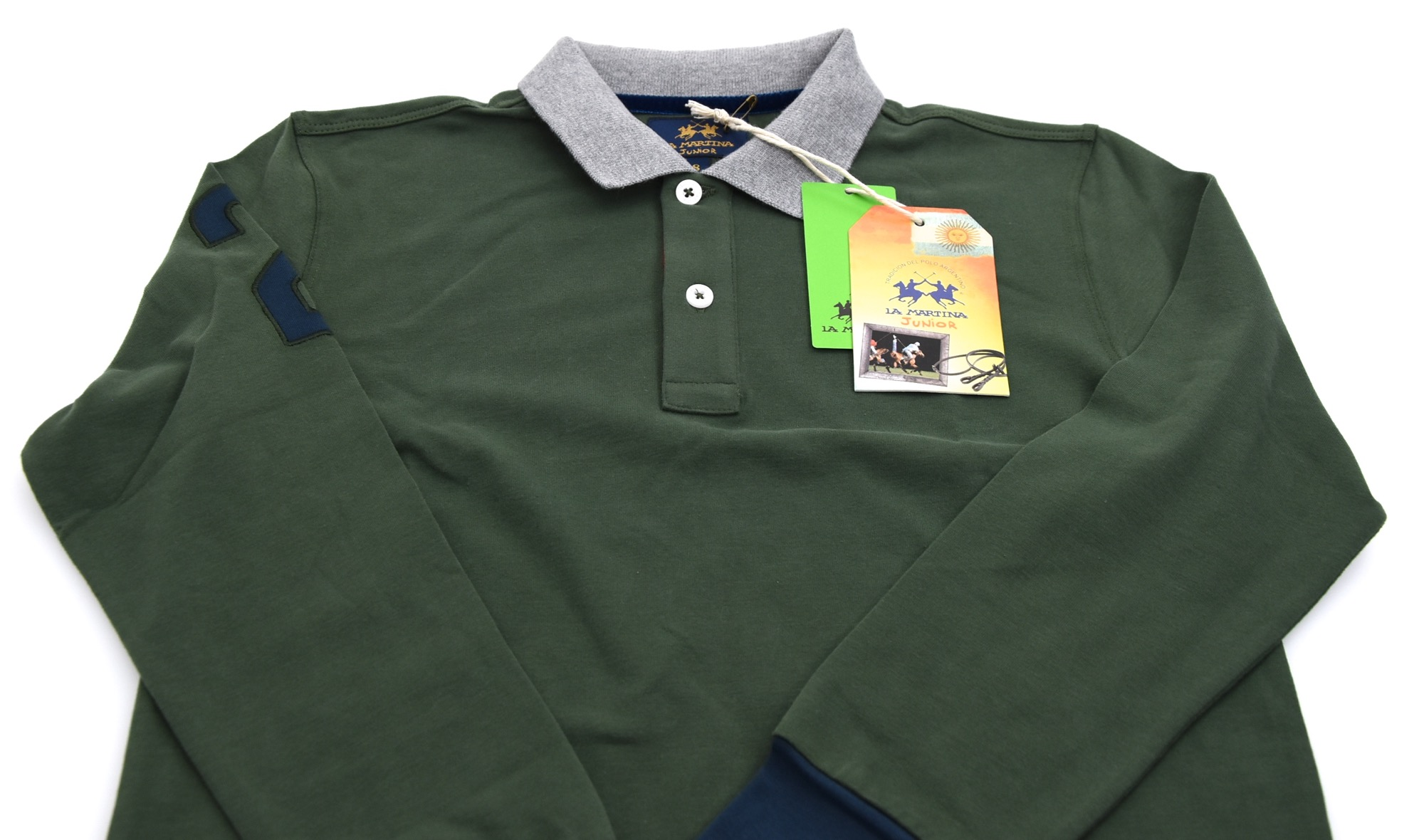d1ec3558b LA MARTINA JUNIOR BOY POLO SHIRT LONG SLEEVE WINTER CASUAL CODE 62 A 4712