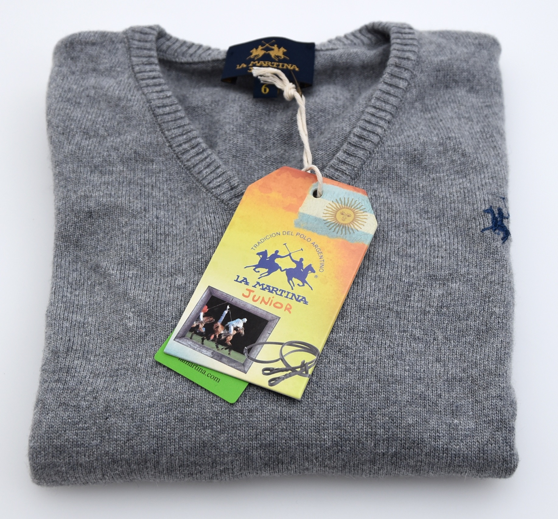 03b4887a5 Details about LA MARTINA JUNIOR BOY PULLOVER JUMPER SWEATER V-NECK WINTER  CODE 62 A 4704