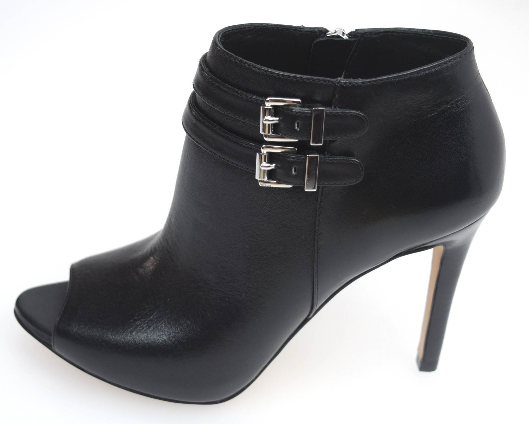 39aec47a33f Details about MICHAEL KORS WOMAN OPEN TOE ANKLE BOOT BLACK LEATHER SAYLOR  BOOTIE 40T5SYME7L