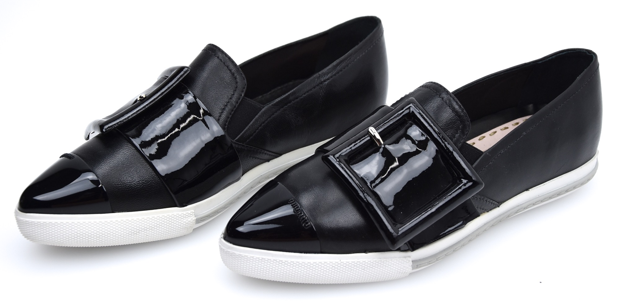 Details about MIU MIU WOMAN SNEAKER SLIP ON SHOES CASUAL FREE TIME LEATHER  CODE 5S172A b4b6d3e6ca38
