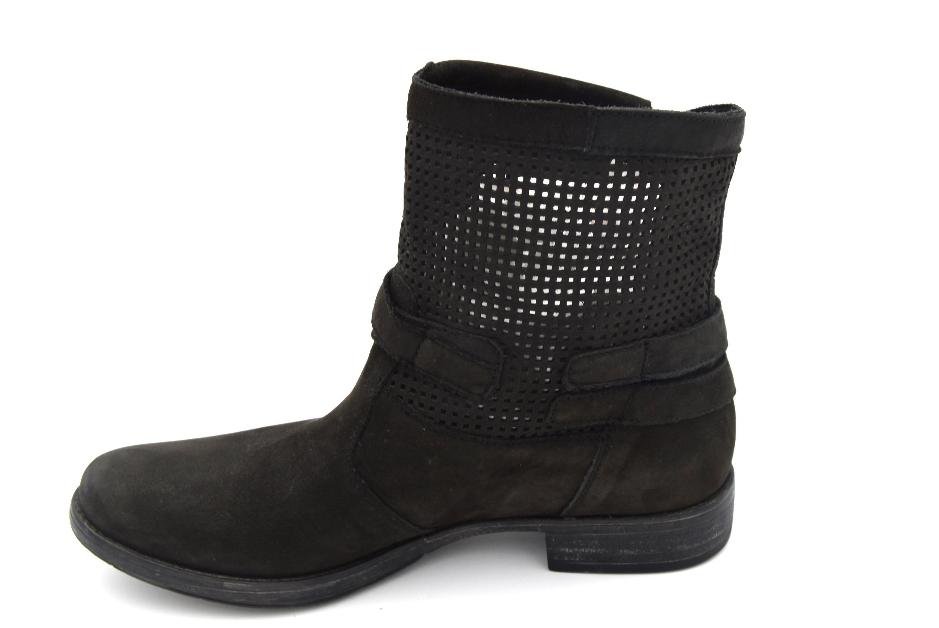 f77aab00d85 Details about NERO GIARDINI WOMAN BIKER ANKLE BOOTS BOOTIES WINTER LEATHER  CODE P512293D
