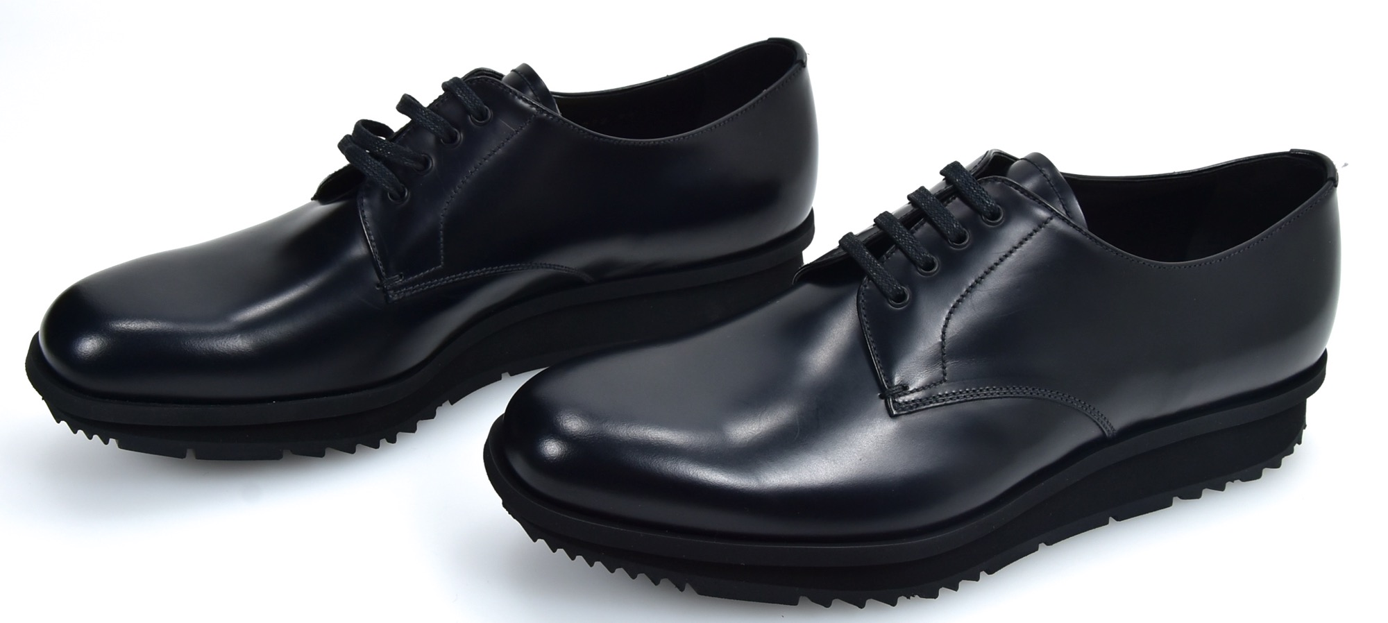 0f048b359725 Details about PRADA MAN BUSINESS DERBY CLASSIC FORMAL DRESS SHOES LEATHER  CODE 2EE092