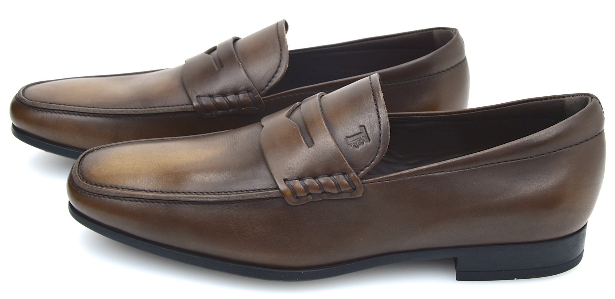 bc09aae42d1 Details about TOD S MAN BUSINESS CLASSIC LOAFERS FORMAL DRESS SHOES LEATHER  XXM0QO00010SADS800