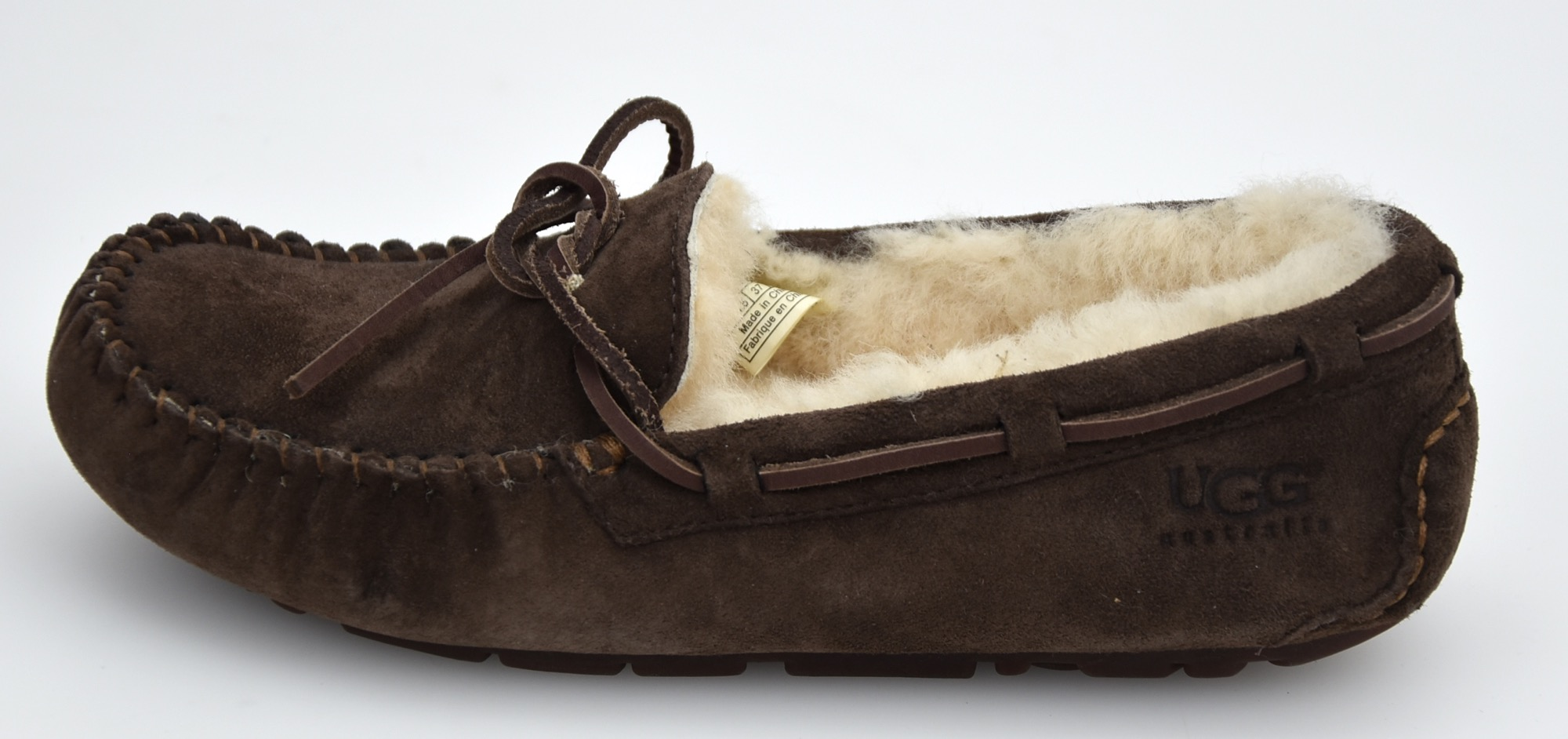 fca2237f582 Details about UGG AUSTRALIA WOMAN LOAFERS SHOES WINTER CASUAL FREE TIME  CODE DAKOTA 5612 W