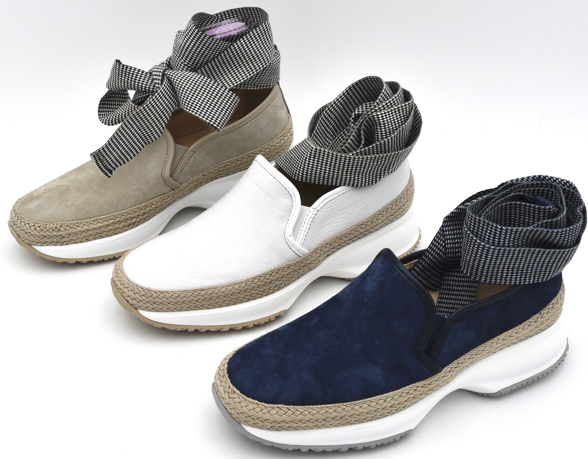 HOGAN H222 WOMAN SNEAKER SLIP ON SHOES SPORTS CASUAL TRAINERS HXW2220T671IGT0A1B