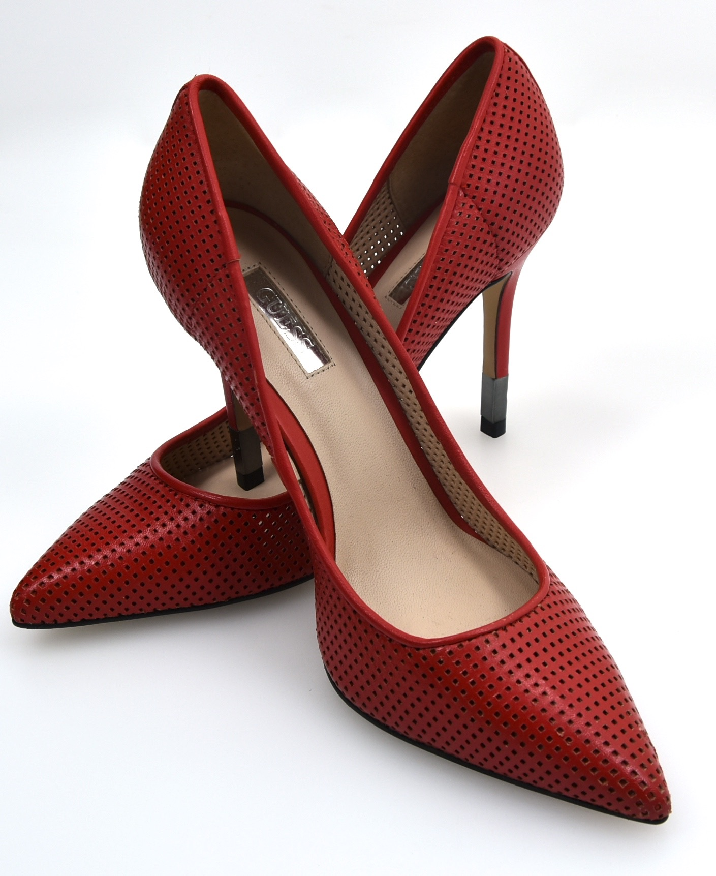 GUESS Damenschuhe HIGH PERFORATED HEELS PUMPS DECOLTE Schuhe PERFORATED HIGH LEATHER CODE FL2BYYLEA08 27784e