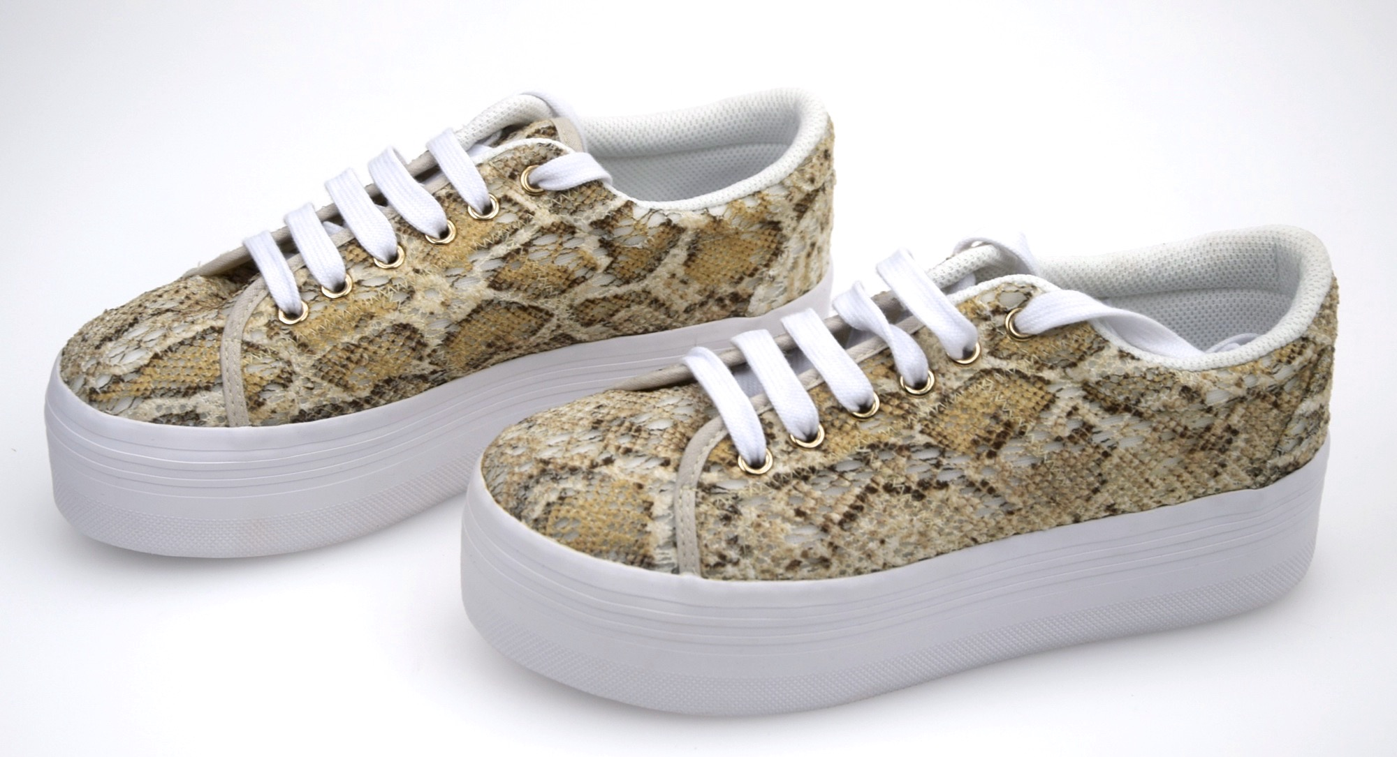 JEFFREY CAMPBELL CODE Damenschuhe SNEAKER Schuhe WITH WEDGE CASUAL CODE CAMPBELL ZOMG LACE PYTHON 432fd3